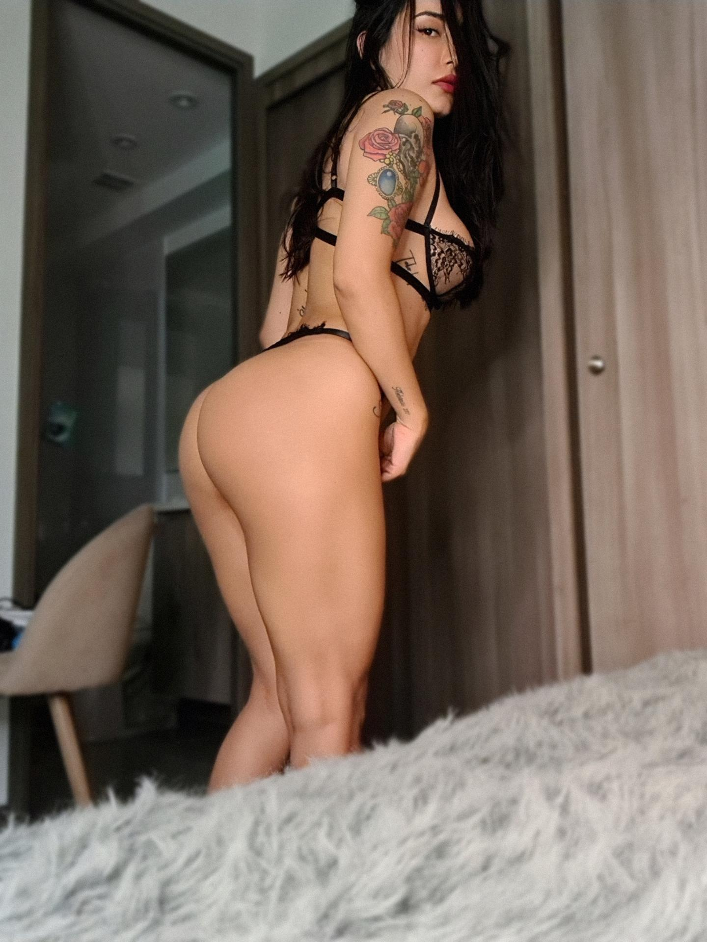 are crazy shemale babe using massive anal dildo something is